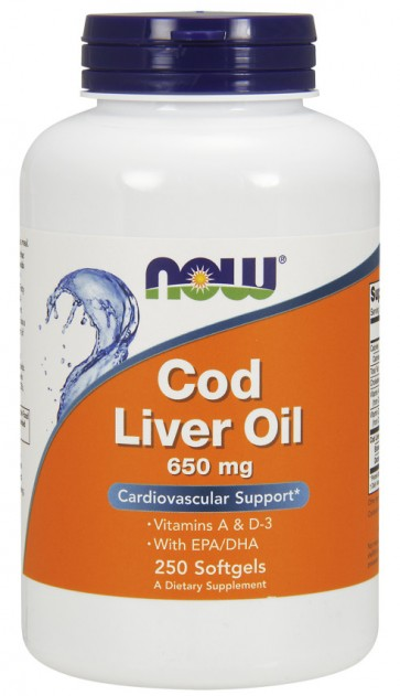 Cod Liver Oil, 650mg - 250 softgels