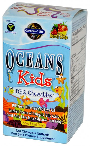 Oceans Kids DHA Chewables - 120 softgels