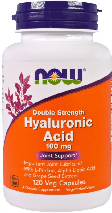 Hyaluronic Acid, 100mg (Double Strength) - 120 vcaps