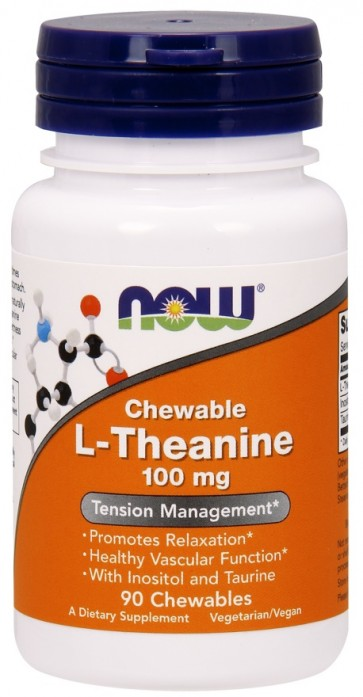 L-Theanine Chewable, 100mg with Inositol and Taurine - 90 chewables