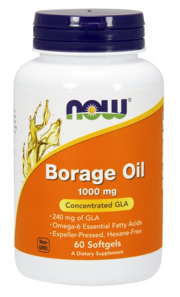 Borage Oil, 1000mg - 60 softgels