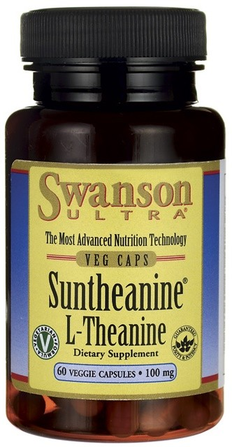 Suntheanine L-Theanine, 100mg - 60 vcaps