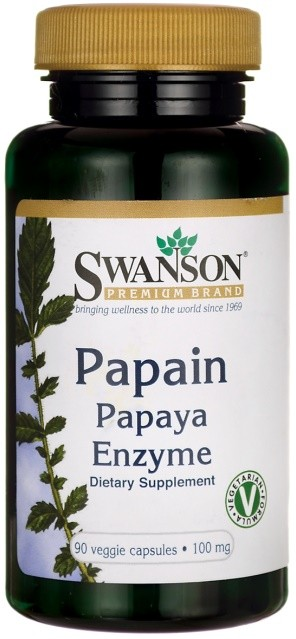Papain Papaya Enzyme, 100mg - 90 vcaps