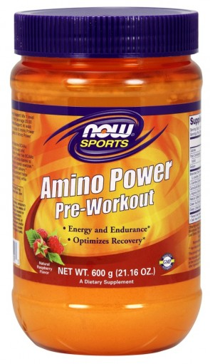 Amino Power Pre-Workout, Raspberry - 600g