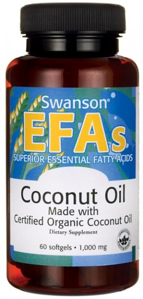Coconut Oil Made with Certified & Organic, 1000mg - 60 softgels