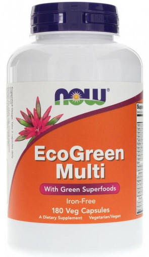 EcoGreen Multi, Iron Free - 180 vcaps