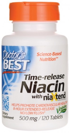 Time-release Niacin with niaXtend, 500mg - 120 tabs